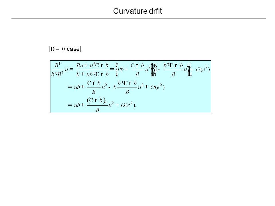 Curvature drfit