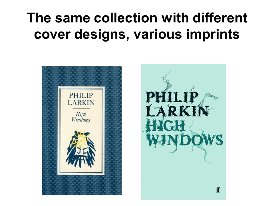 The same collection with different cover designs, various imprints