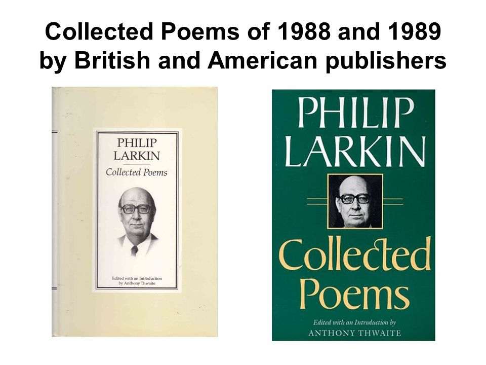 Collected Poems of 1988 and 1989 by British and American publishers