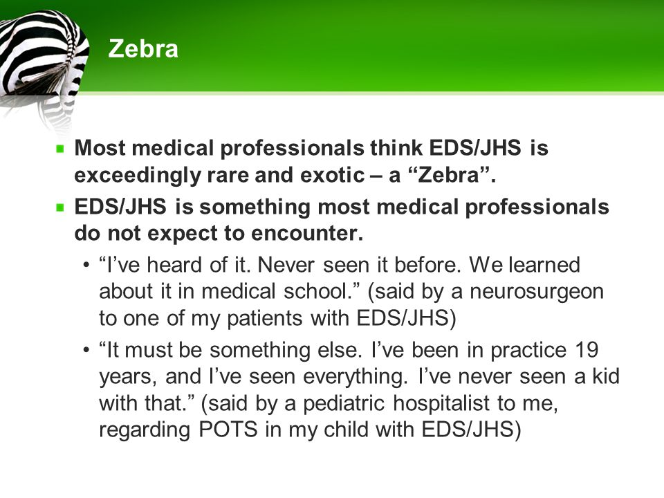 In Conclusion EDS/JHS is NOT exceedingly rare.