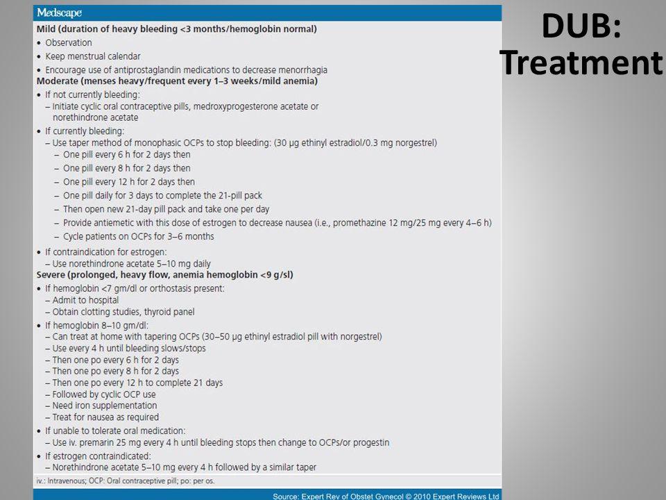 DUB: Treatment