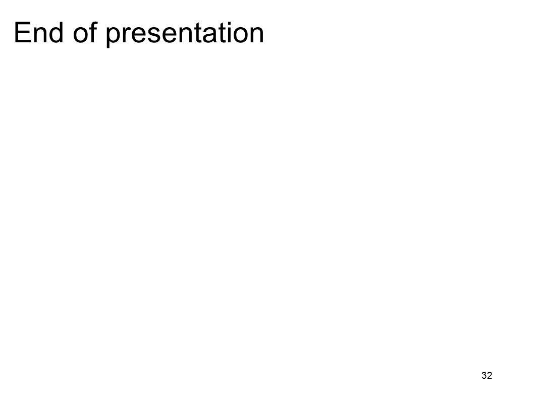 32 End of presentation