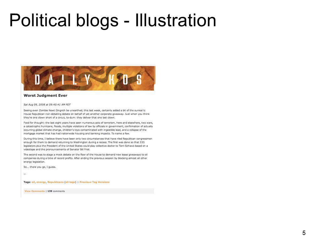 5 Political blogs - Illustration