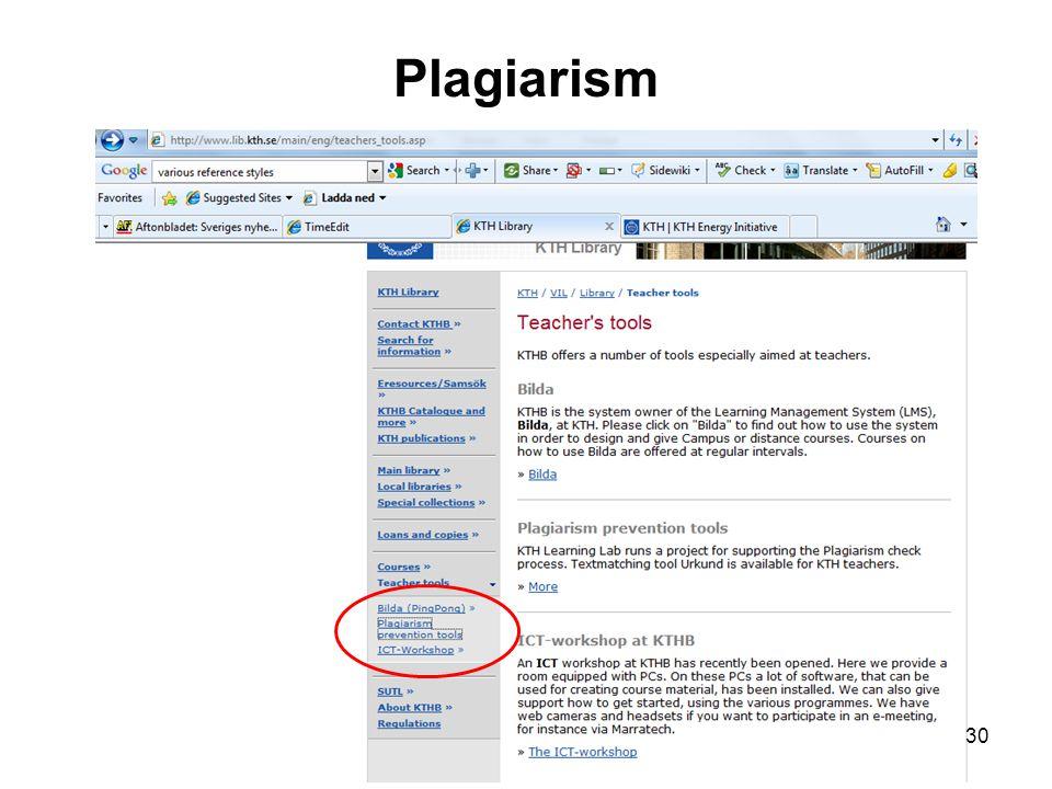 Plagiarism 30