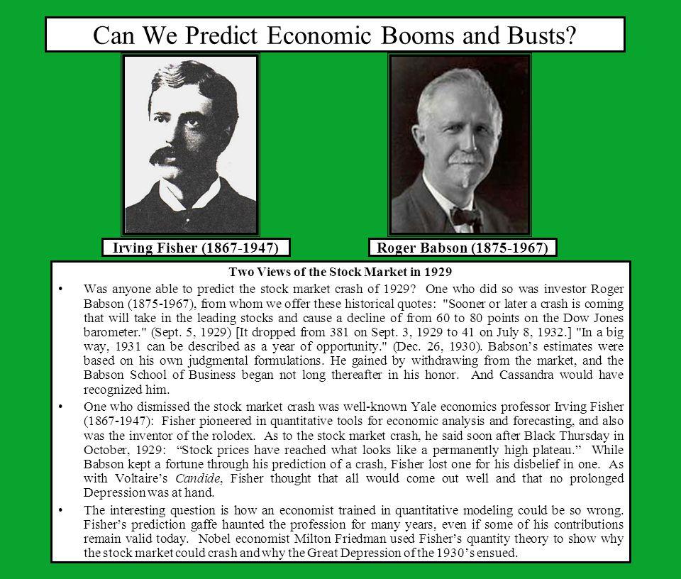 Do Stock Markets Predict Future Economic Activity.