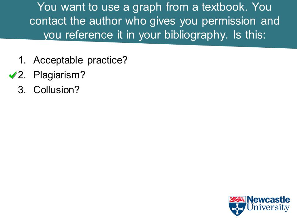 You want to use a graph from a textbook.