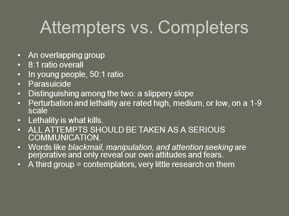 Attempters vs.