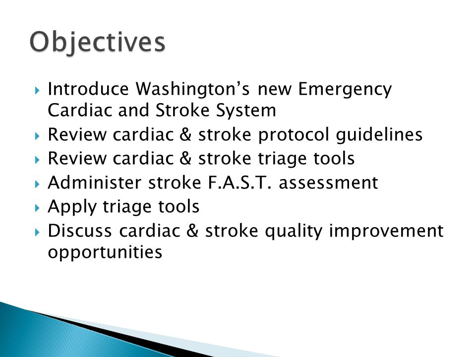  Level 1-Comprehensive Stroke Center ◦ Certified Primary Stroke Center that also has:  Neurologist w/in 20 minutes 24/7  Neurosurgeon w/in 30 minutes 24/7  Vascular neurologist and vascular surgeon  Other highly specialized stroke care capabilities  Level 2- Primary Stroke Center ◦ Has the necessary staffing, infrastructure, and programs to stabilize and treat most acute stroke patients.