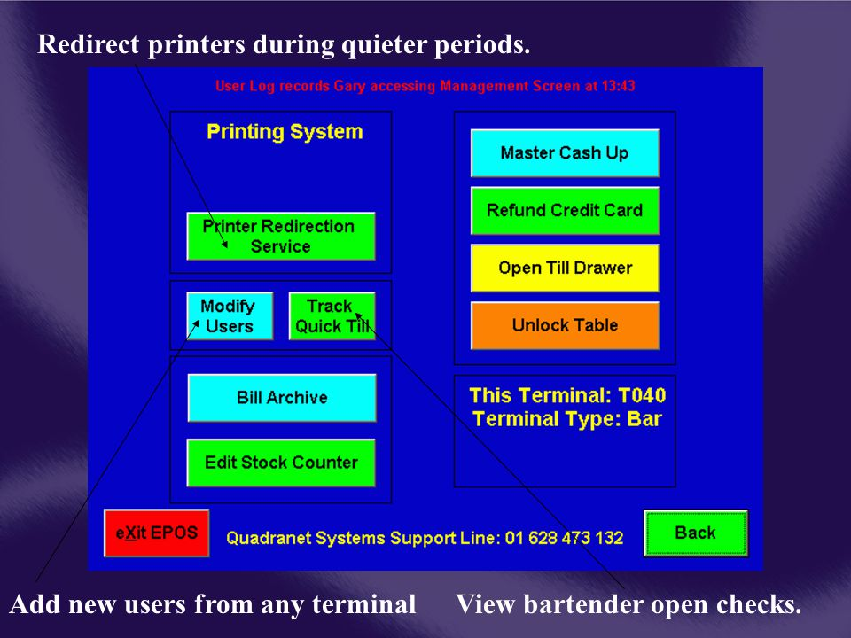Redirect printers during quieter periods.