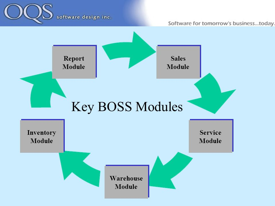 Boss Sales Used by sales reps to manage their customers, create quotes and orders and track all open orders.
