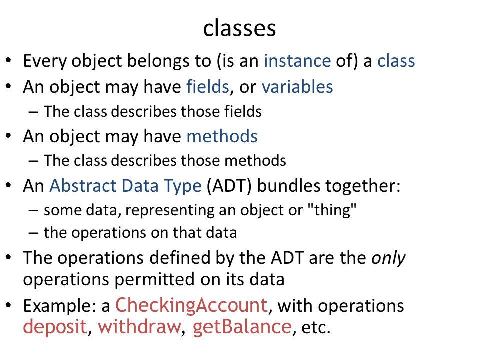 OOP Features 4 major features in OOP – encapsulation – information hiding – inheritance – overloading