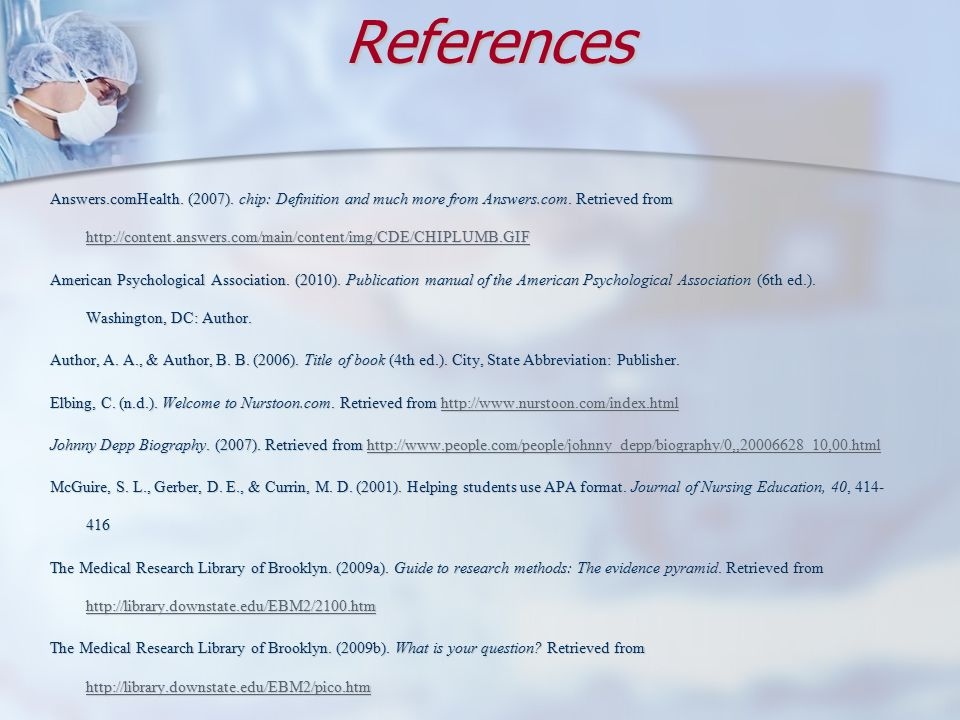 References Answers.comHealth.(2007). chip: Definition and much more from Answers.com.