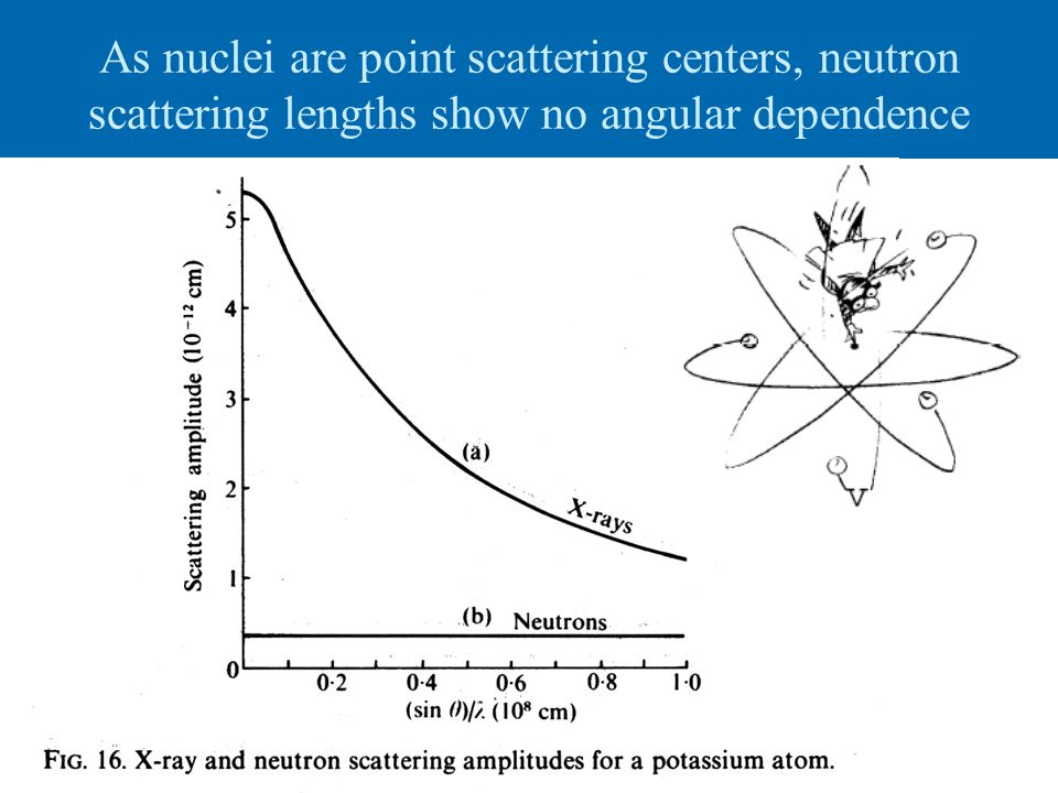 As nuclei are point scattering centers, neutron scattering lengths show no angular dependence