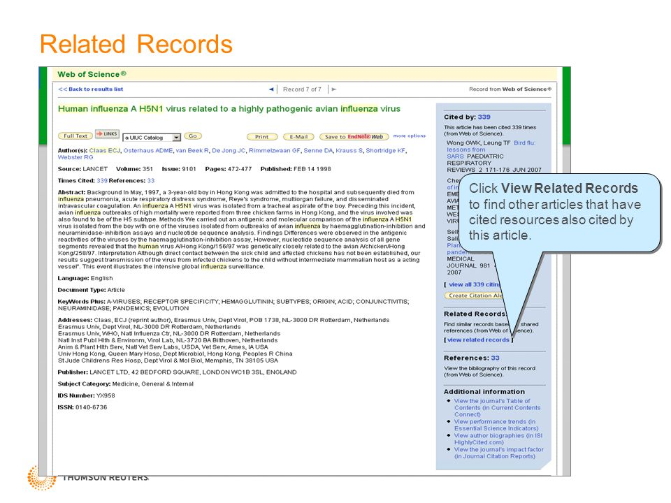 Related Records Click View Related Records to find other articles that have cited resources also cited by this article.