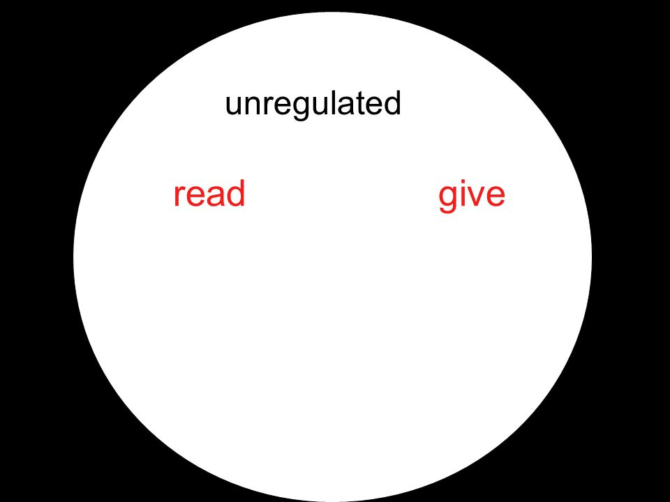 unregulated readgive