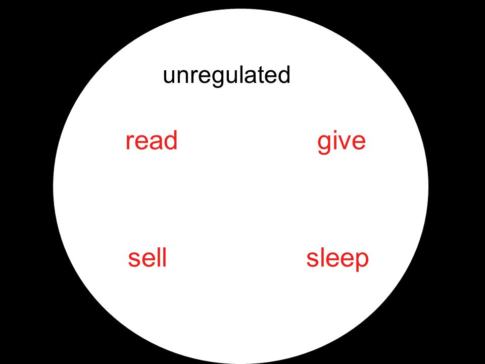 unregulated read sell give sleep