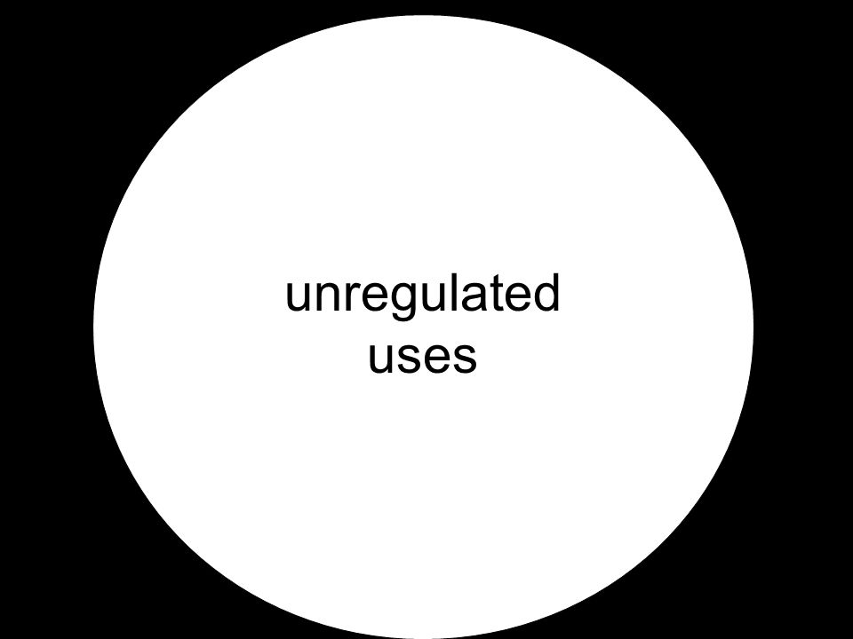 unregulated uses