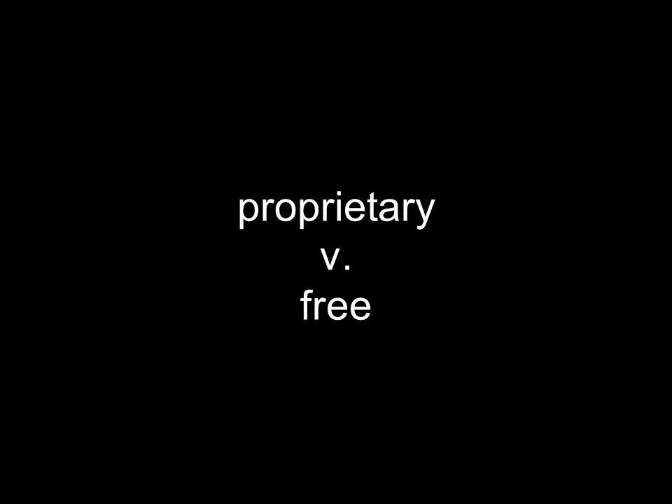 proprietary v. free
