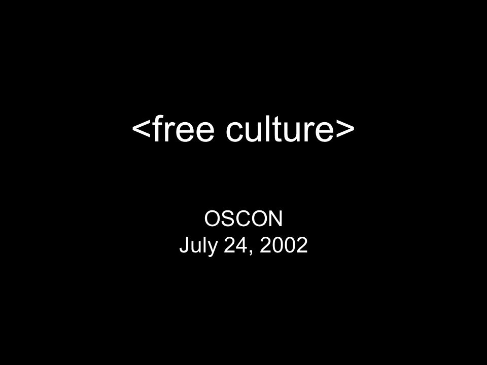 OSCON July 24, 2002
