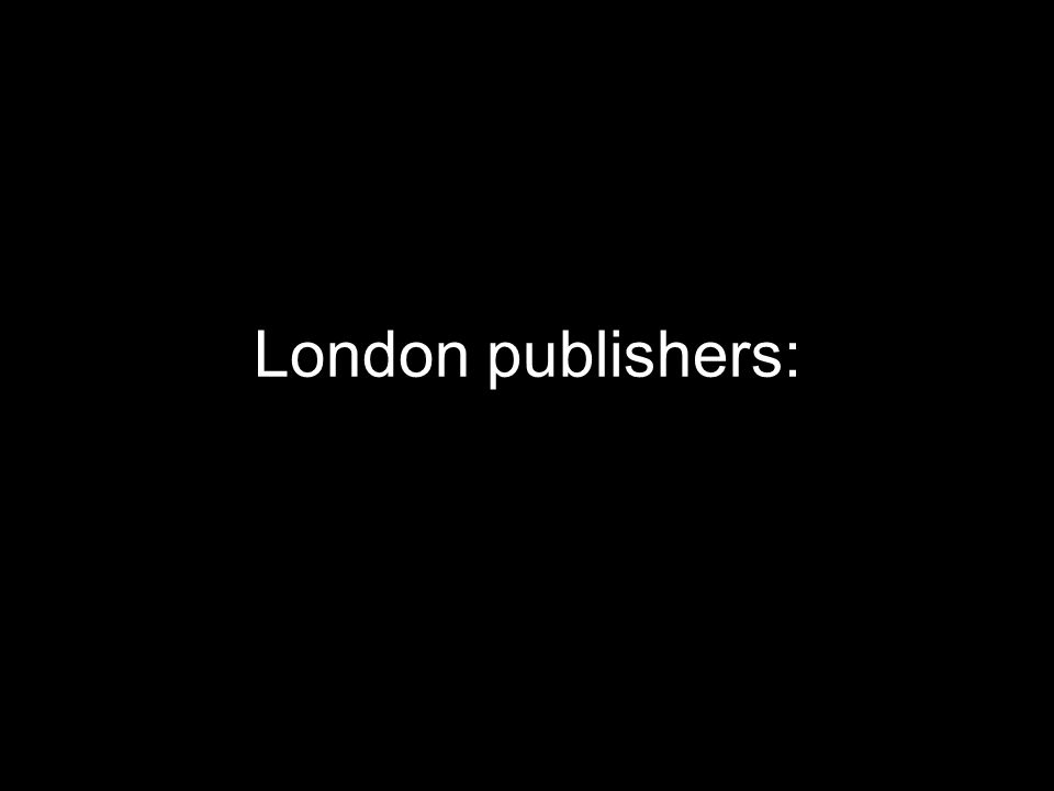London publishers: copyright is forever