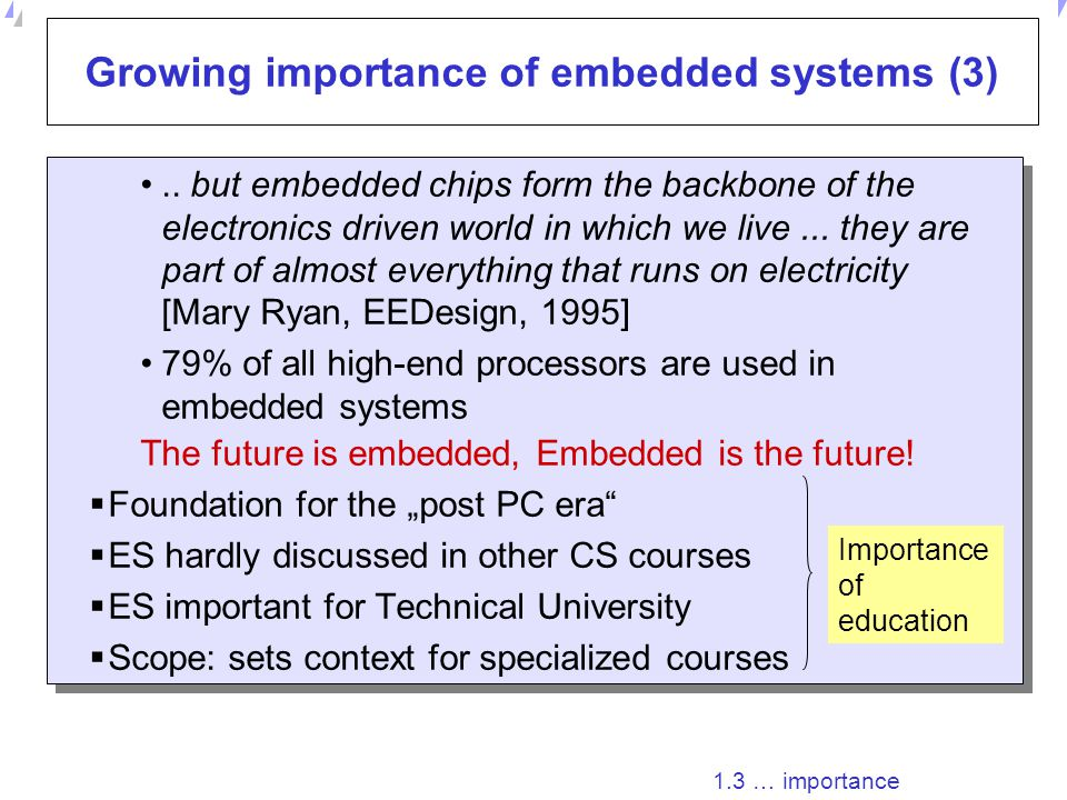 Universität Dortmund Growing importance of embedded systems (2) The number of broadband lines worldwide increased by almost 55% to over 123 mln in the 12 months to the end of June 2004, according to Point-Topic.