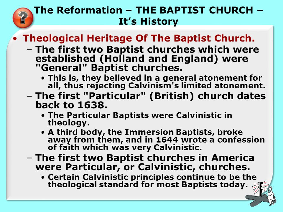 The Reformation – THE BAPTIST CHURCH – It's History Theological Heritage Of The Baptist Church.