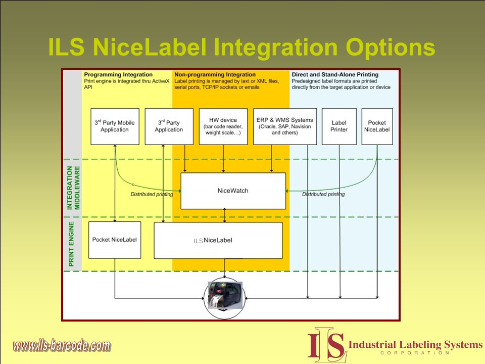 ILS NiceLabel Integration Options ILS