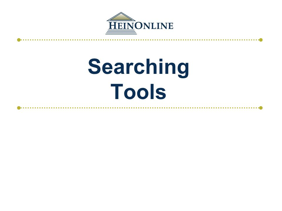 Searching Tools