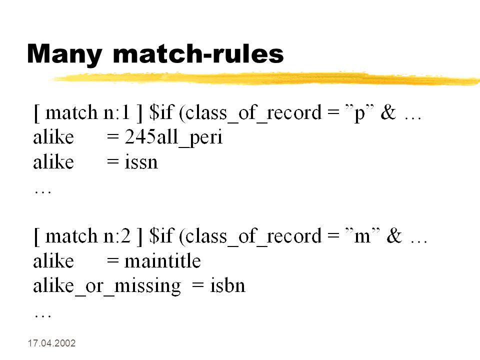 17.04.2002 Many match-rules