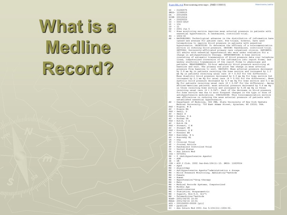 What is a Medline Record