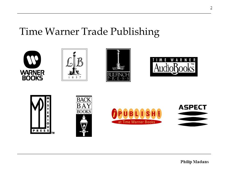 Philip Madans 2 Time Warner Trade Publishing