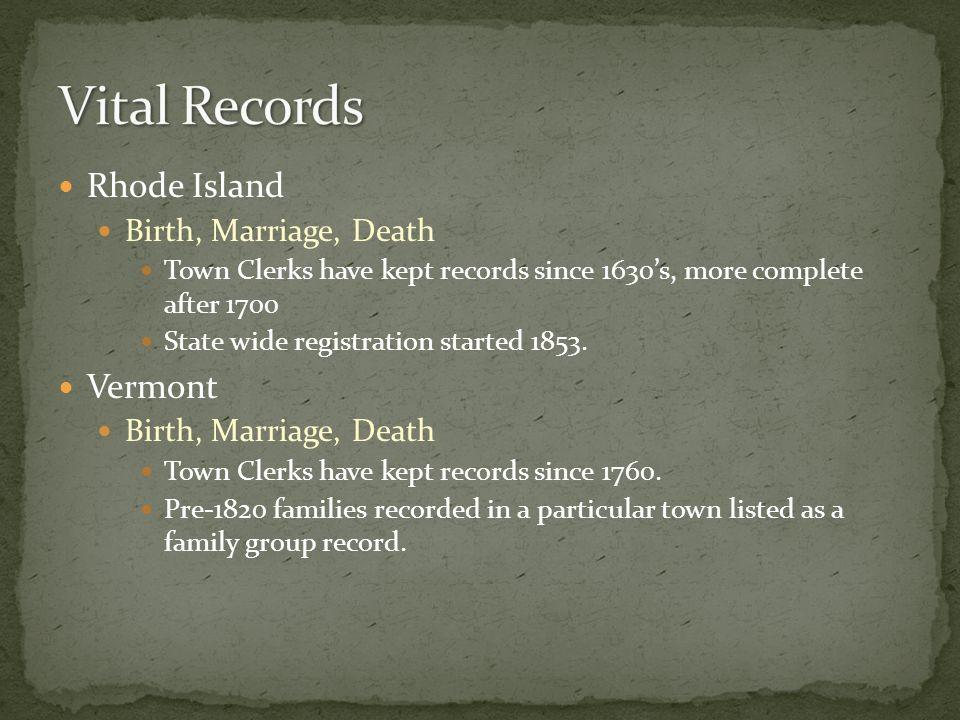 Starting in 1790 Federal Population Schedules Start.