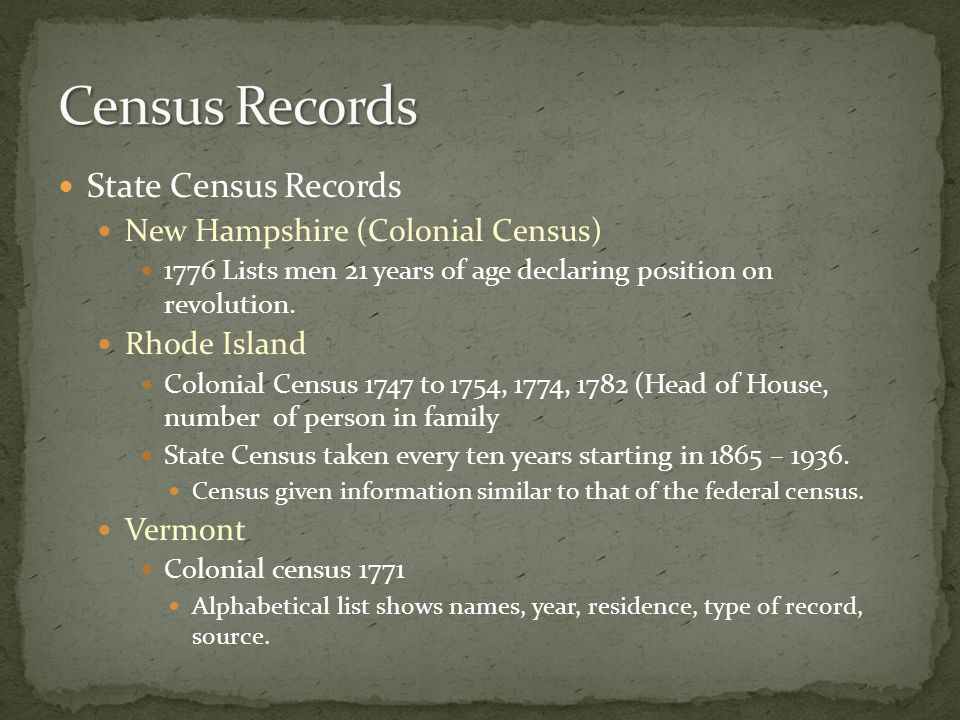 New England genealogical research has generated a great deal of compiled records Including family histories, genealogical dictionaries, local town or county histories.