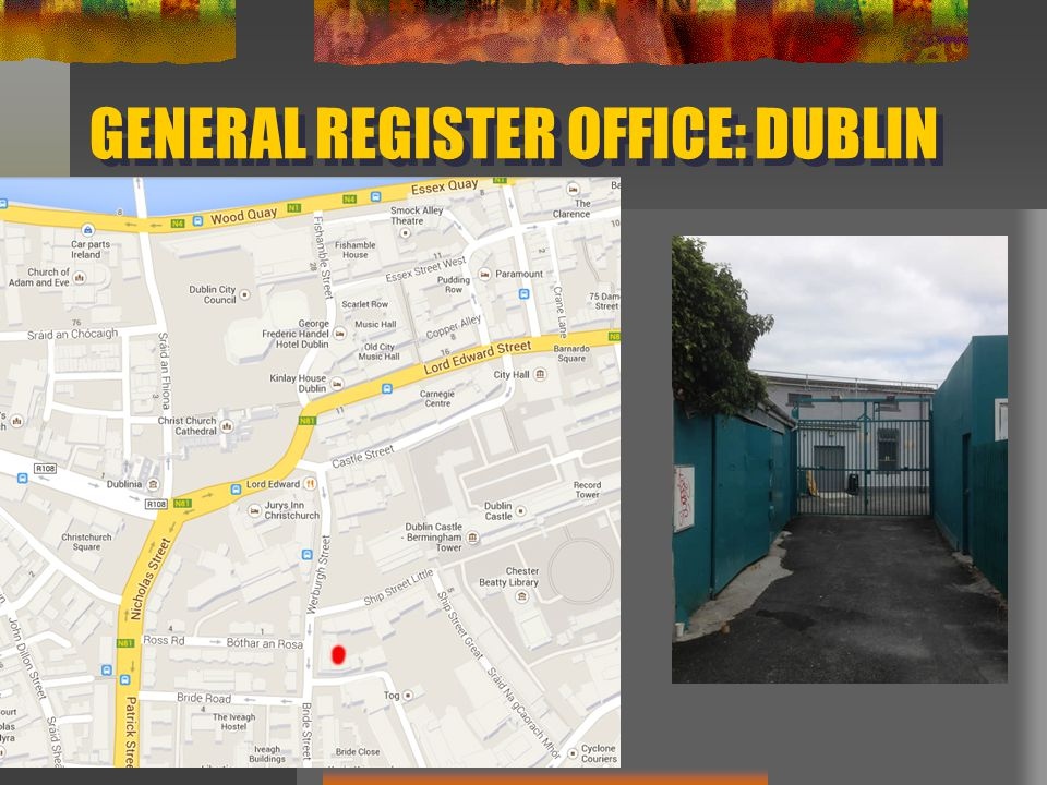 GENERAL REGISTER OFFICE: DUBLIN