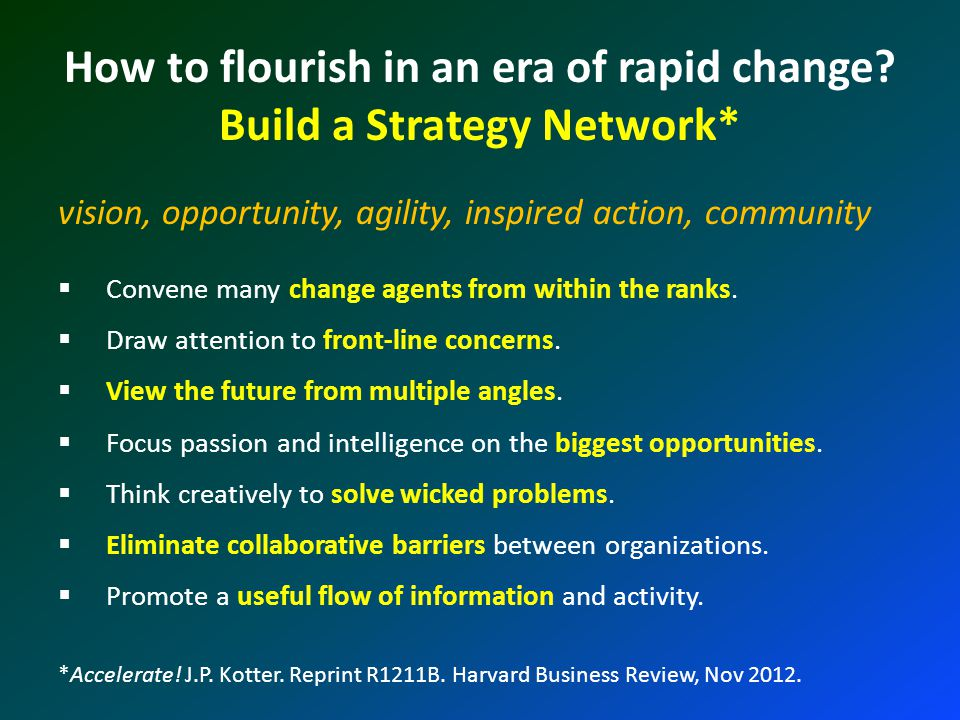 How to flourish in an era of rapid change.