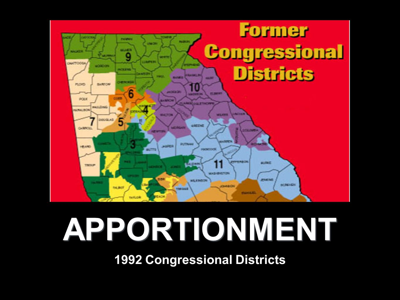 APPORTIONMENT 1992 Congressional Districts