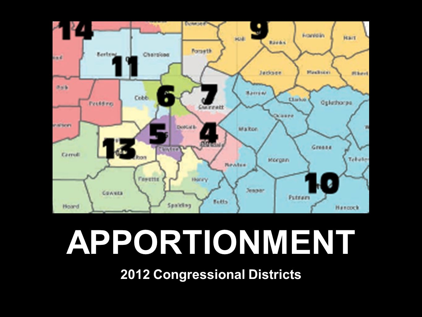 APPORTIONMENT 2012 Congressional Districts