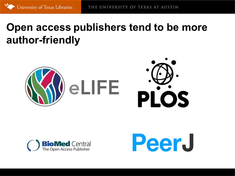 Open access publishers tend to be more author-friendly
