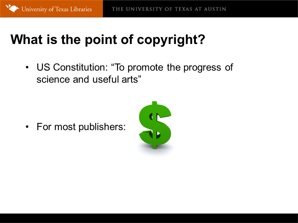 What is the point of copyright.