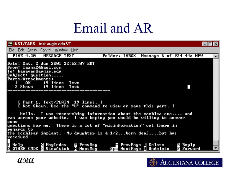 ARA Email and AR