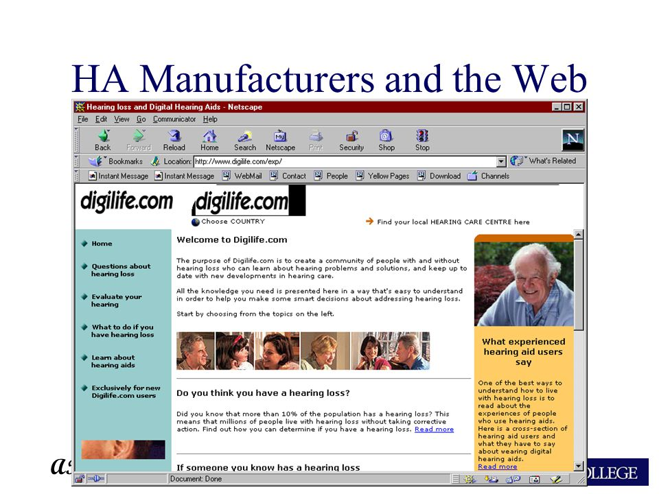 ARA HA Manufacturers and the Web