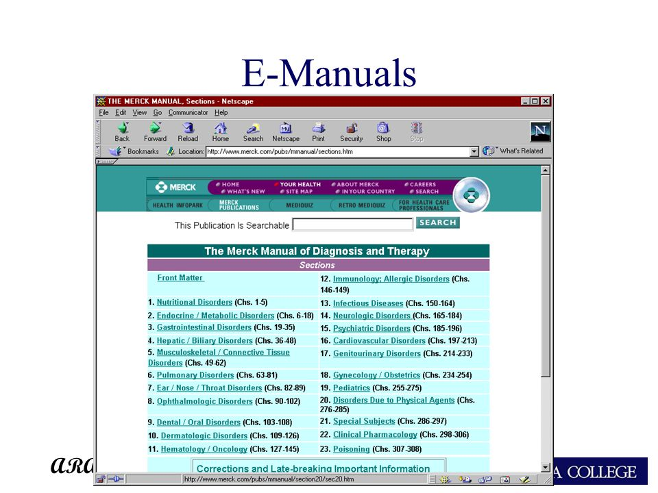 ARA E-Manuals