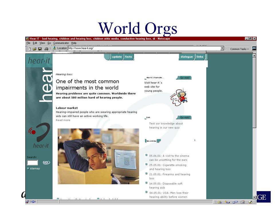 ARA World Orgs