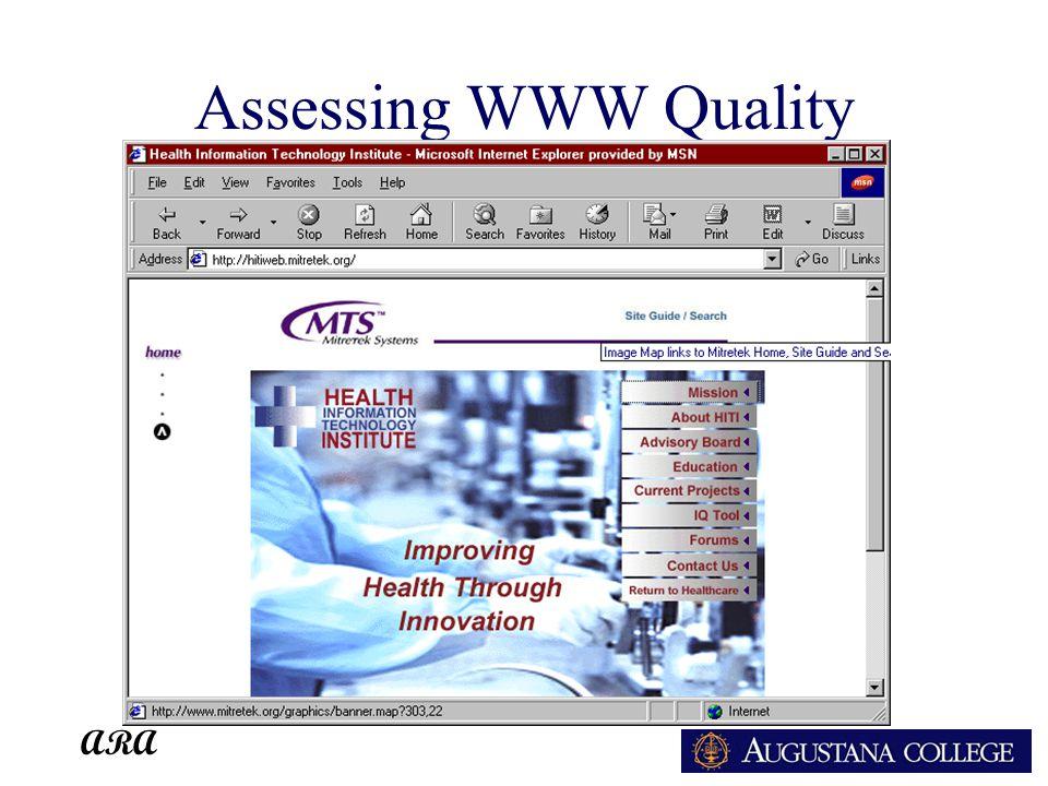 ARA Assessing WWW Quality