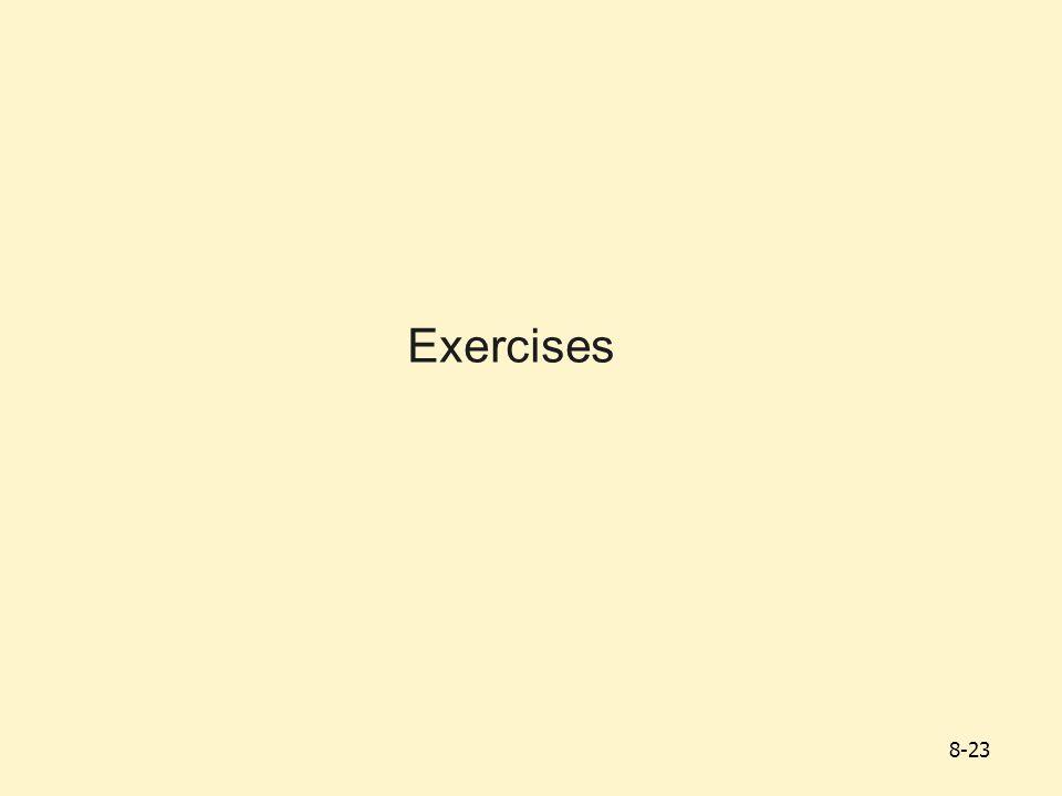Exercises 8-23