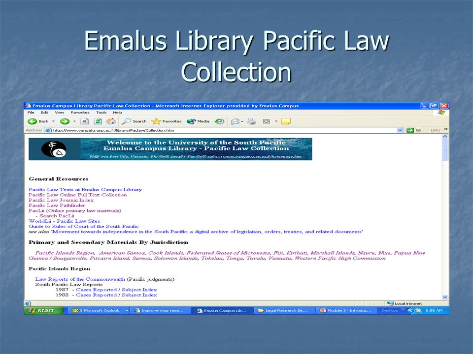Emalus Library Pacific Law Collection