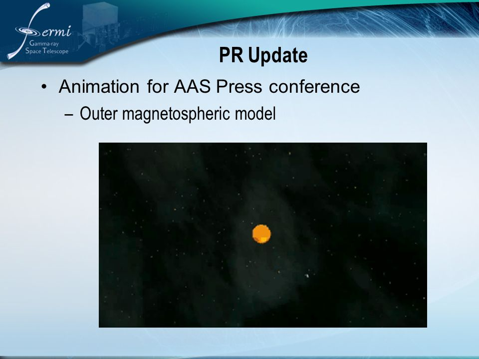 PR Update Animation for AAS Press conference –Outer magnetospheric model