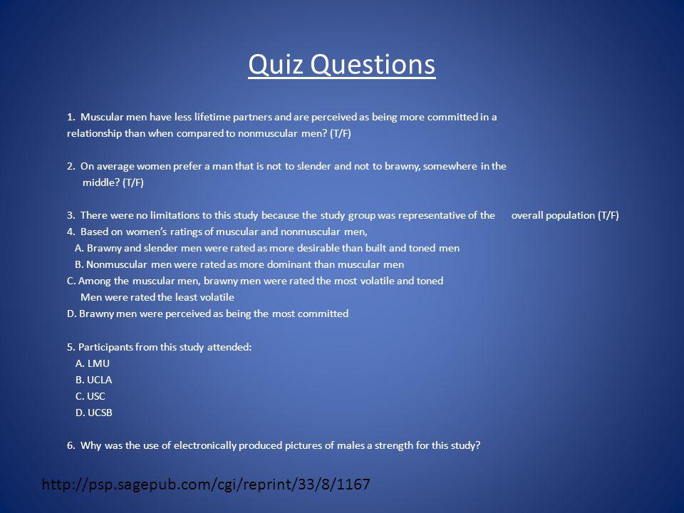 Quiz Questions 1.
