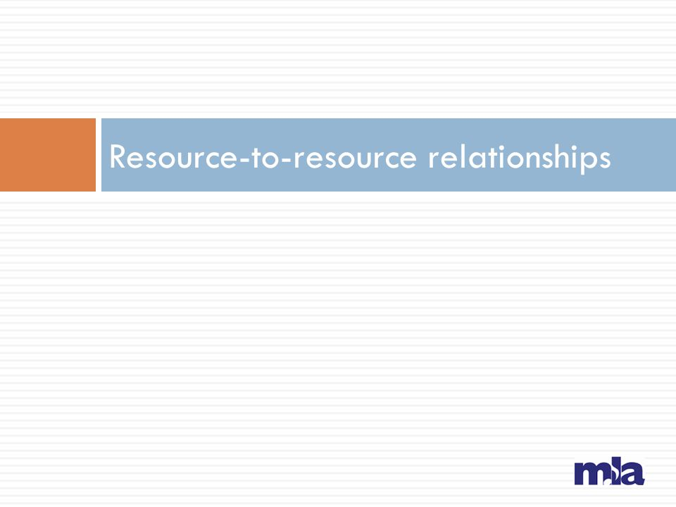 Resource-to-resource relationships