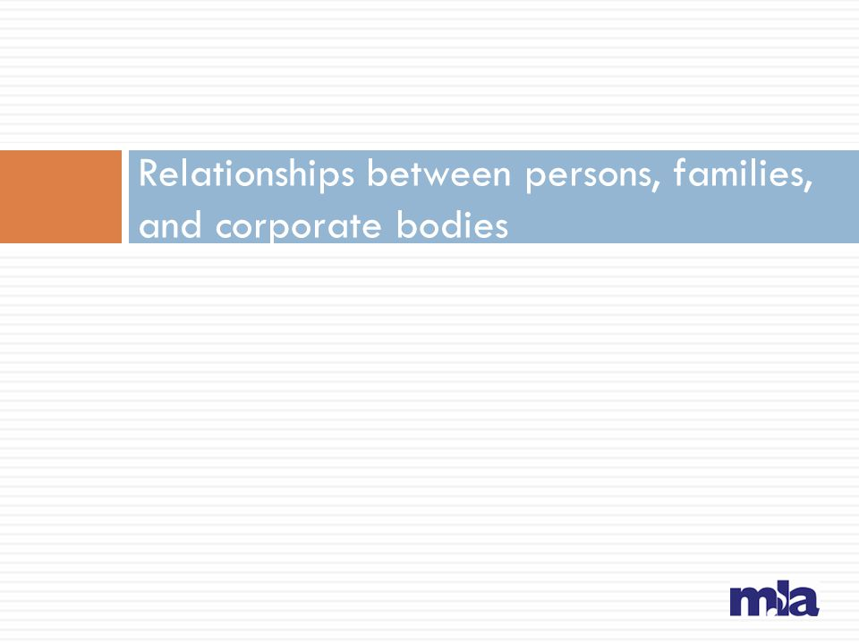 Relationships between persons, families, and corporate bodies